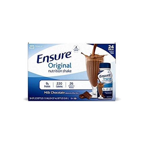 Ensure Original Nutrition Shake, Milk Chocolate (8 fl. oz., 24 ct.) (pack of 6) by Ensure