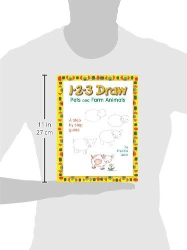1-2-3 Draw Pets and Farm Animals: Freddie Levin: 9780939217403 ...