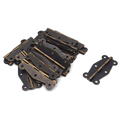- Antrader 24-Pack 2'' x 0.95'' Retro Design Decorative Butterfly Hinge for Wooden Furniture Cabinet Drawer Jewelry Box with 144 Screws