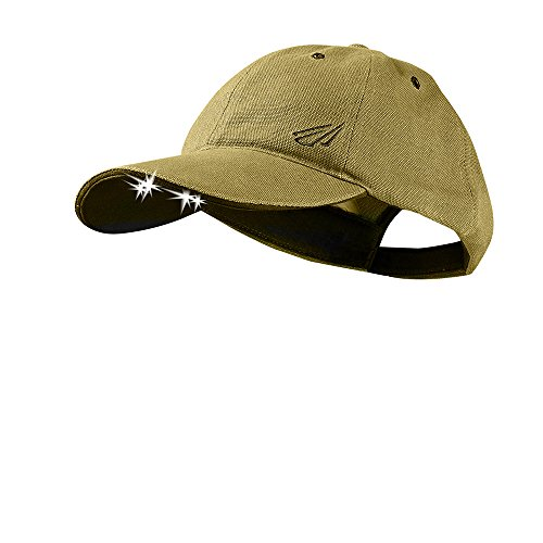 POWERCAP LED Hat 25/10 Ultra-Bright Hands Free Lighted Battery Powered Headlamp - Khaki Unstructred Canvas (CUB4-0586)