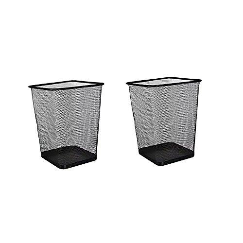 AJ 2 PACK Rectangular Waste Bin,steel Mesh,8.7