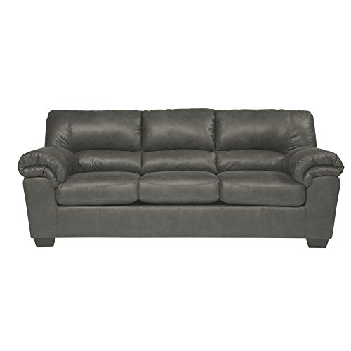- Ashley Furniture Signature Design - Bladen Contemporary Plush Upholstered Sofa - Slate Gray