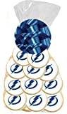 BakeryAnyWhere 12pack NHL Tampa Bay Lightning Sports Team Birthday Party Favor Edible Photo Cookies