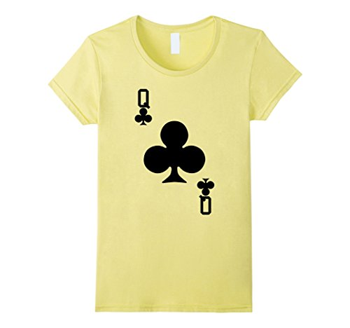 Womens Queen of Clubs - Playing Card Halloween Costume T-Shirt Large (Club Playing Card Costume)