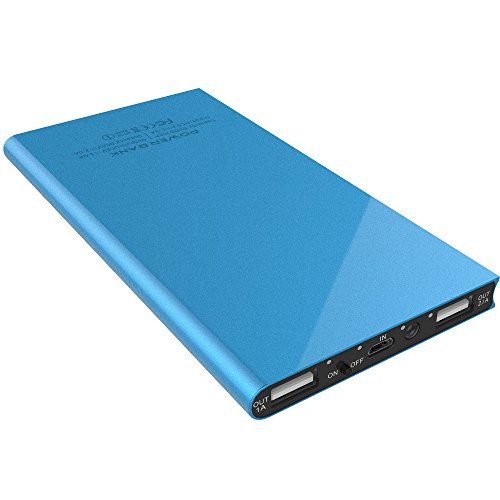 Power Bank,LOVPHONE 8000mAh Ultra Slim Power Bank Dual SMART USB Ports Portable Battery Charger Power Bank for iPhone,iPad,iPod,Samsung Galaxy,Cell Phones,Tablets-(Blue) (8000 Power Bank compare prices)