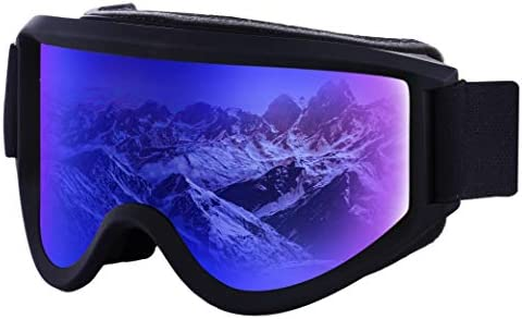 09cdb988390e Amazon.com   Ski   Snowboard Goggles - Dual-Layer Lens Snow Glasses ...
