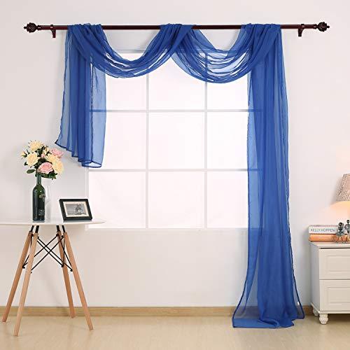 Deconovo Decorative Window Voile Sheer Scarf Valance Curtain
