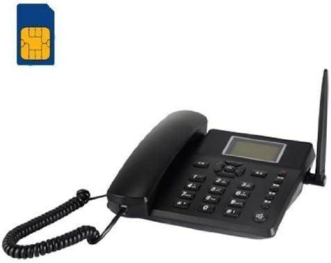 BW Wireless Quadband GSM - Teléfono fijo analógico (inalámbrico), negro: Amazon.es: Electrónica