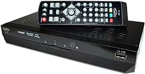 Xoro SAT100270 - Receptor doble HD DVB-T (HDTV, HDMI, reproductor de medios 1080p, USB 2.0, grabación de vídeo digital), color negro