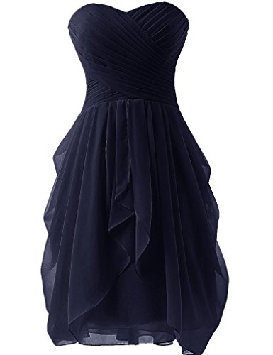 Girls Short Strapless Bridesmaid Dress Wedding Party Prom Gowns Navy Blue US20W