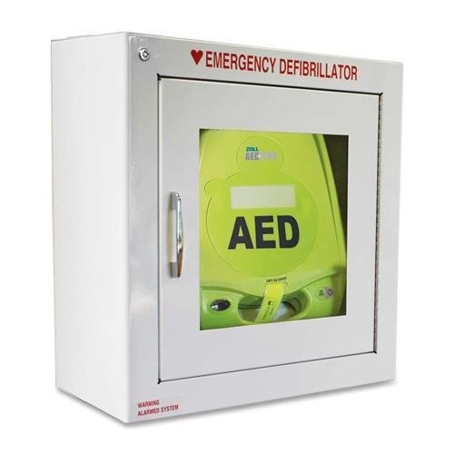 (80000855 ZOLL AED Plus Standard Size Cabinet with Audible Alarm - Metal - White)