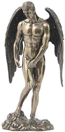 11.25 Male Nude Angel Statue Decor Sculpture Man Figure Figurine Erotic