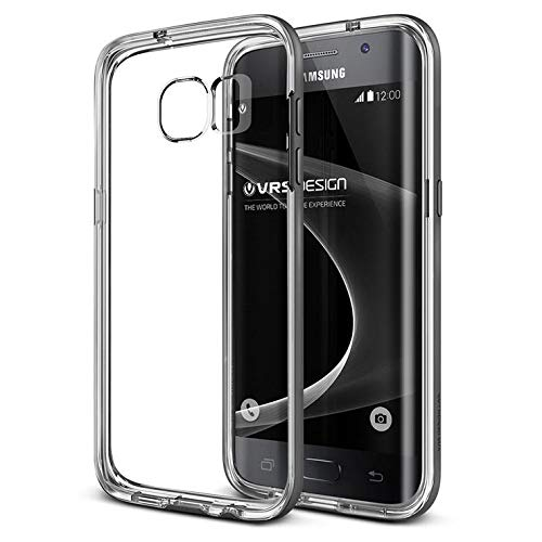 Galaxy S7 Edge Case, VRS Design [Crystal Bumper][Steel Silver] - [Clear Cover][Military Protection] For Samsung S7 Edge