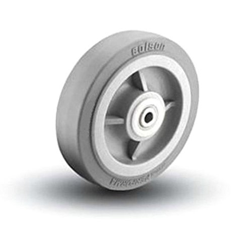 Colson Performa Rubber 6''x2'' Soft Flat Tread Wheel 3/4'' Delrin Bearing 5-6-451