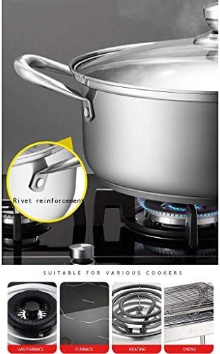 Épaissi en acier inoxydable 304, antiadhésifs, grande capacité, liez induction casseroles avec verre trempé et poignées Couvercles résistant à la chaleur (Size : 25.5 * 10cm)