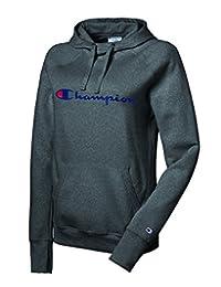 Champion Women's Powerblend Fleece Pullover Hoodie Sweater, Granite Heather, XS