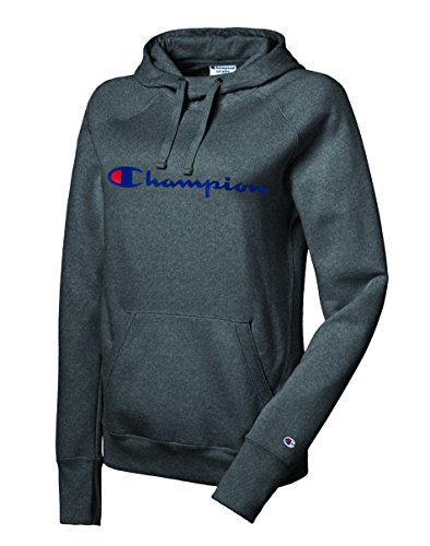 Champion Women's Fleece Pullover Hoodie, Granite Heather, Small