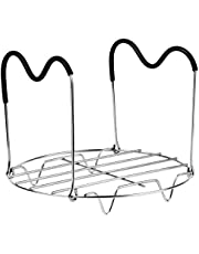 Steamer Rack Trivet with Handles Compatible with Instant Pot Accessories 6 or 8 Quart, Stainless Steel Steam Rack with Heat Resistat Handle