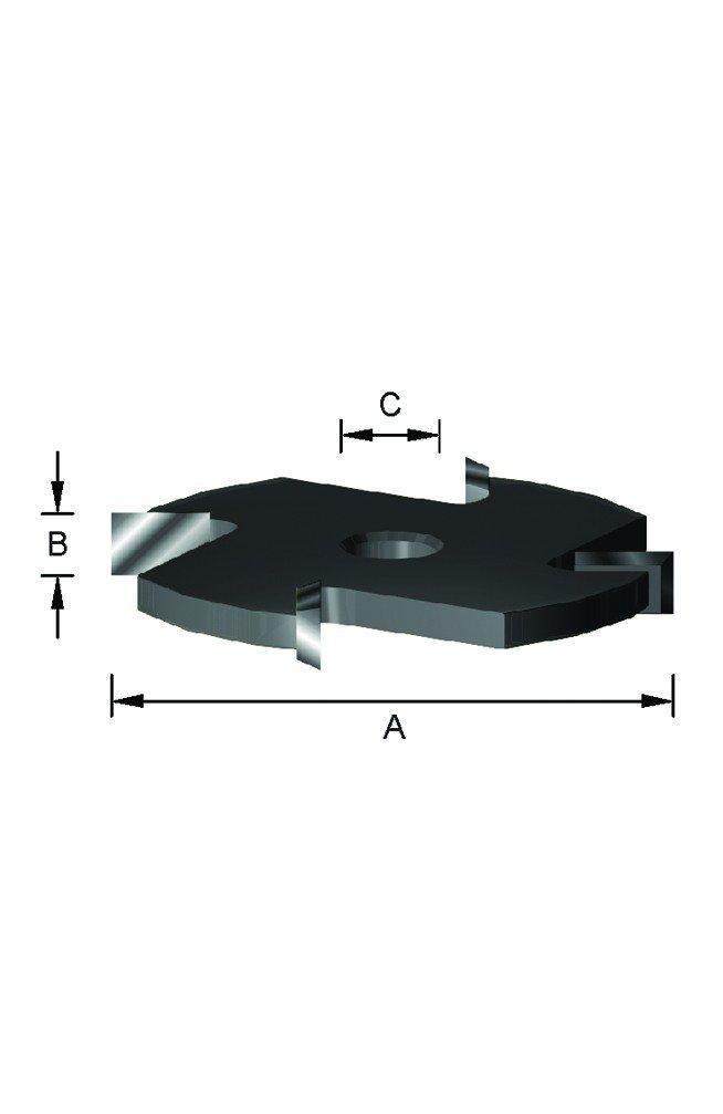tup/í 30 mm 8 cortes 5//10 mm Leman 937.120.30.0510 Fresa de ranurar de carburo extensible