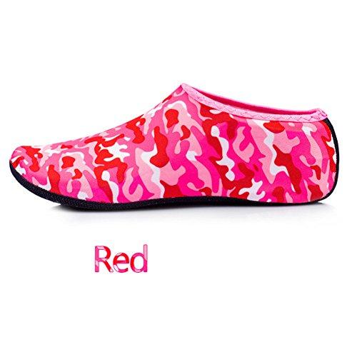 buceo antideslizantes agua para Distintos pies Colorido Ejercicio de de snorkeling aire Calcetines zapatos Rojo Protección libre de de los yoga al EqEHw8Pt
