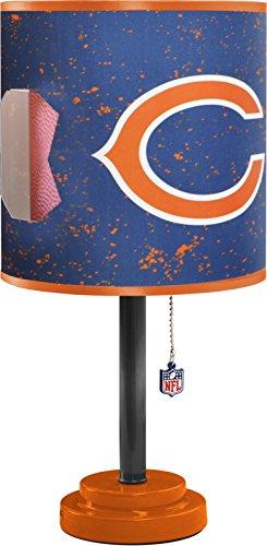 Idea Nuova NK980147 NFL Chicago Bears Table Lamp with Die Cut Lamp Shade Chicago Bears Table Lamp