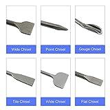 YaeTek SDS Plus Hammer Drill Chisel Set 6pcs with