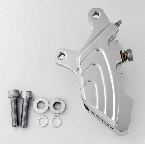 Chrome Four Piston Front Single Disc Custom Brake Caliper for Harley Softail Dyna Sportster