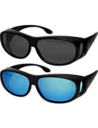 Fit Over - anteojos de sol polarizadas con lentes de uso sobre prescripción, 100% protección UV para hombres y mujeres