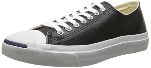 Converse, Uomo, Jack Purcell Leather OX, Pelle, Sneakers, Nero Schwarz