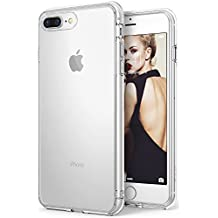 iPhone 7 Plus / iPhone 8 Plus Case, Ringke [FUSION] Crystal Clear PC Back TPU Bumper [Drop Protection/Shock Absorption Technology] Raised Bezels Protective Cover For Apple iPhone 7 Plus – Clear