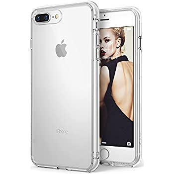Apple iPhone 8 Plus Case Ringke [FUSION] Crystal Clear Minimalist Transparent PC Back TPU Bumper [Drop Protection] Scratch Resistant Natural Shape Protective Cover for iPhone 8 Plus - Clear