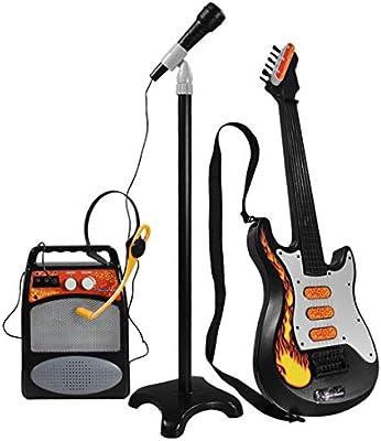 Yavso Cuerdas Guitarra Electrica Niños, 3 IN 1 Juguete Guitarra ...