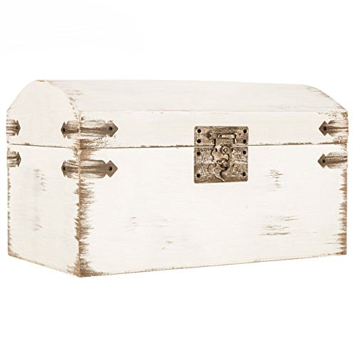 Adumly Elegant Shabby Chic Antique White Wedding Card Gift Box Vintage Wishing ()