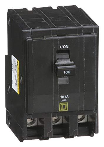 (Square D Plug in Circuit Breaker, QO, Number of Poles 3, 100 Amps, 240VAC, Standard)