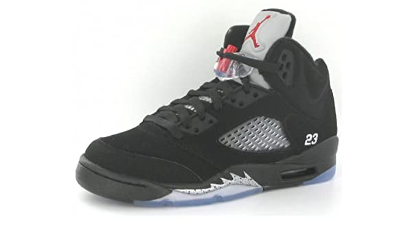 on sale a064a f7e5d Nike Air Jordan 5 Retro (GS) Big Kids Basketball Shoes  440888-010  Black Varsity  Red-Metallic Silver Boys Shoes 440888-010-7  Amazon.ca  Sports   Outdoors