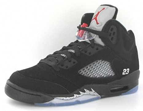 on sale d5539 e6462 Nike Air Jordan 5 Retro (GS) Big Kids Basketball Shoes  440888-010  Black Varsity  Red-Metallic Silver Boys Shoes 440888-010-7  Amazon.ca  Sports   Outdoors