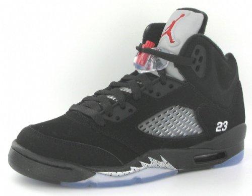 premium selection 1c212 7e3a9 Nike Air Jordan 5 Retro (GS) Big Kids Basketball Shoes  440888-010  Black Varsity  Red-Metallic Silver Boys Shoes 440888-010-6.5  Amazon.ca  Shoes   Handbags