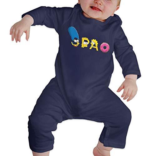 Sim-p-Son Family Long Sleeve Baby Onesie Bodysuits (6M) -