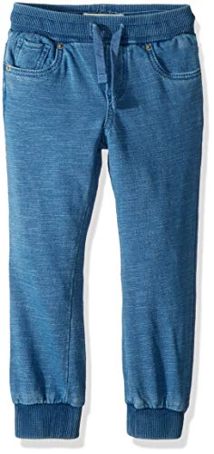 Levi's Boys' Toddler Soft Knit Jogger Pants, Light Indigo, 2T