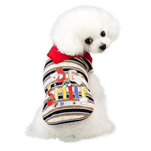 BOLUBILUY 2019 New Soft & Comfy Cotton Blend Dog T Shirts Jumpsuit Summer Puppy Dog Vest Shirt Small Pet Clothes Costume]()
