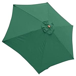 Green 9 Foot Patio Umbrella Canopy Replacement 6 Rib