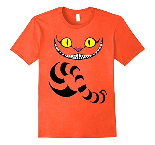 Mens Big Grin Wicked Cat T-Shirt - Best Halloween Costume Idea 2XL Orange
