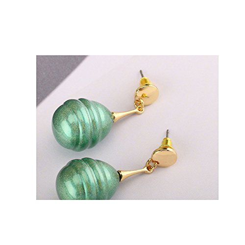Pearl Shaped Baroque (Ablaze Jin Shaped Pearl Earrings Encouraged Baroque Colorful Earrings Candy Color Stud Earrings Trinkets,Green)
