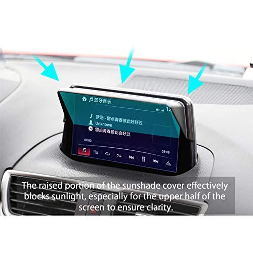 LFOTPP Mazda Vehicle Navigator Sunshade Visor,Glare Vision Shield, GPS Navigation Sun Hood Anti Reflective,Block Sunlight Block Sun Glare