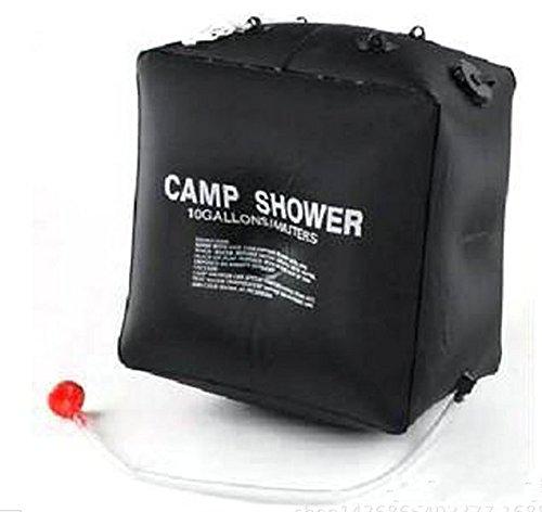 Mtef アウトドア ソーラーエネルギー ソーラーキャンプシャワー お湯 太陽熱 ポータブル ウォーターシャワー PVC ウォーターバッグ ノズル付き キャンプ ハイキング バックパッキング旅行 ブラック 40L B06XVMS3VG