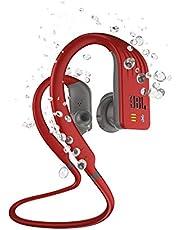 JBL Endurance Series Dive Waterproof Bluetooth Earphones, Red