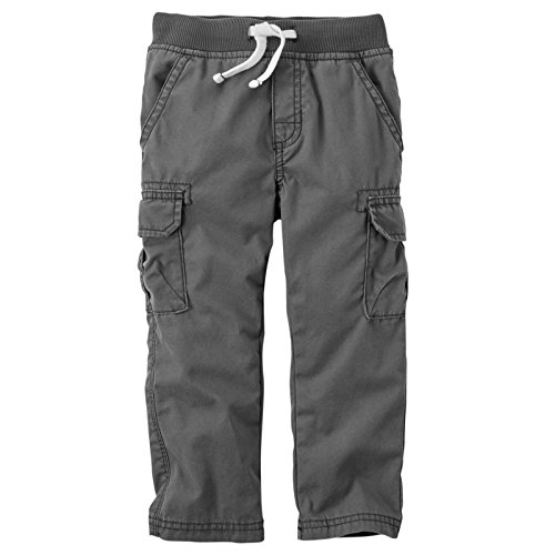 Carter's Little Boys' Woven Canvas Pants (Toddler/Kid) - Gray - 2T - Carters Woven Pant