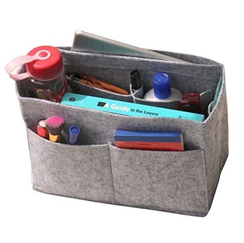 - JennyKrafts Purse Insert (3mm Felt, Open Pockets, Water Bottle Holder), Tote Bag Organizer Pockets