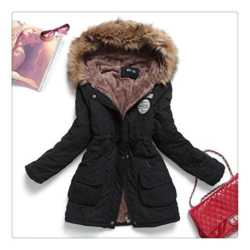 Queixiw Fitaylor Winter Jacket Women Thick Warm Hooded Parka Mujer Cotton Padded Coat Long Paragraph Plus Size 3XL Slim Jacket Female 1 M