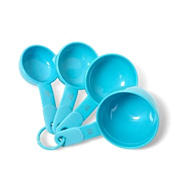 KitchenAid Classic Plastic Measuring Cups, Turquoise, Set of 4